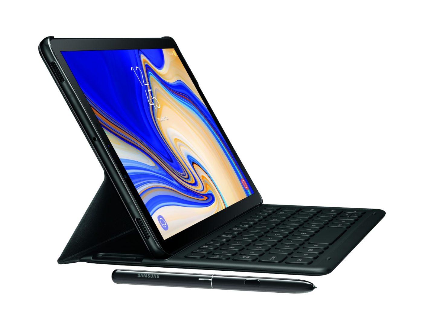 Tak prezentuje się tablet Samsung Galaxy Tab S4 z przodu. Jest bardzo dobrze.