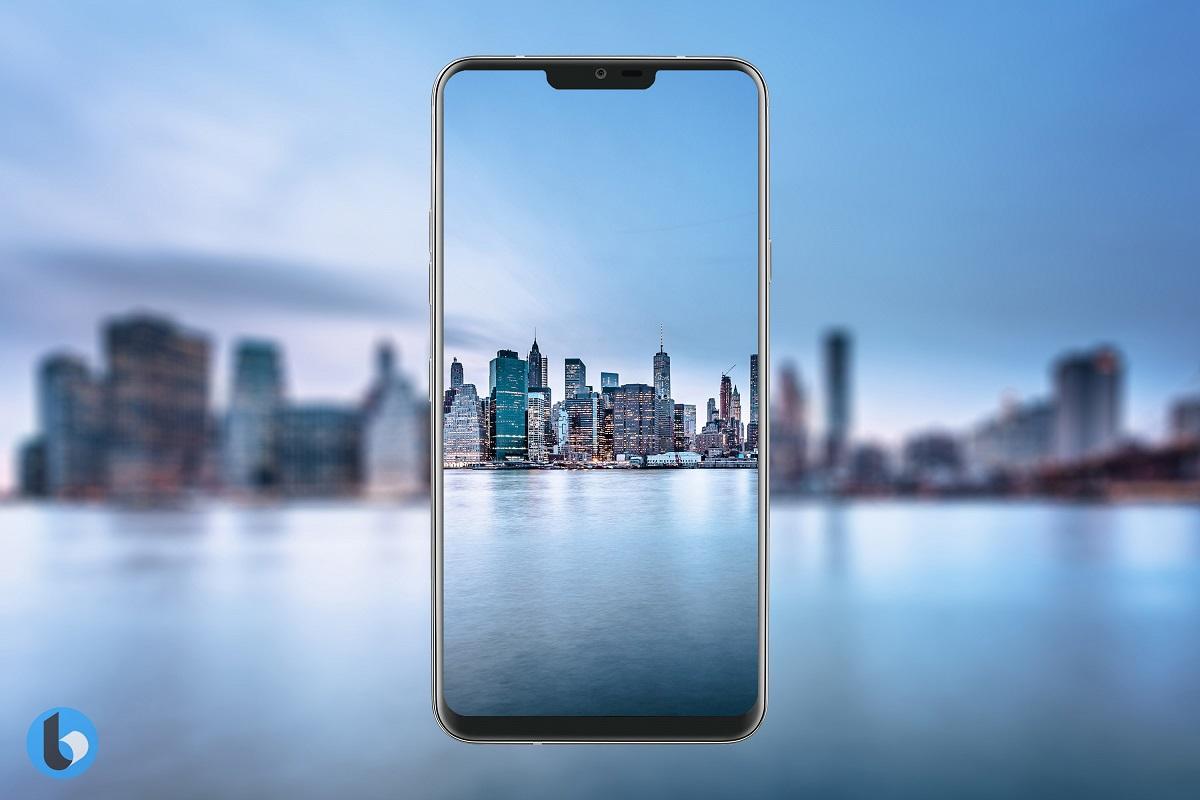"""LG G7 może mieć """"wycięty"""" ekran, tak jak iPhone X."""