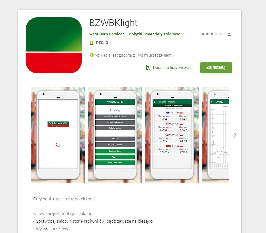Uważajcie! W Google Play pojawiła się fałszywa aplikacja mobilna popularnego banku.